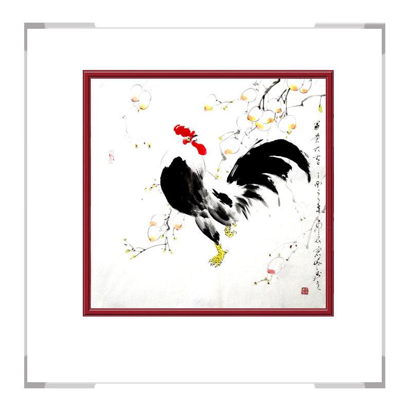 中国工笔画学会会员画家刘宗伟-花鸟画斗方作品一