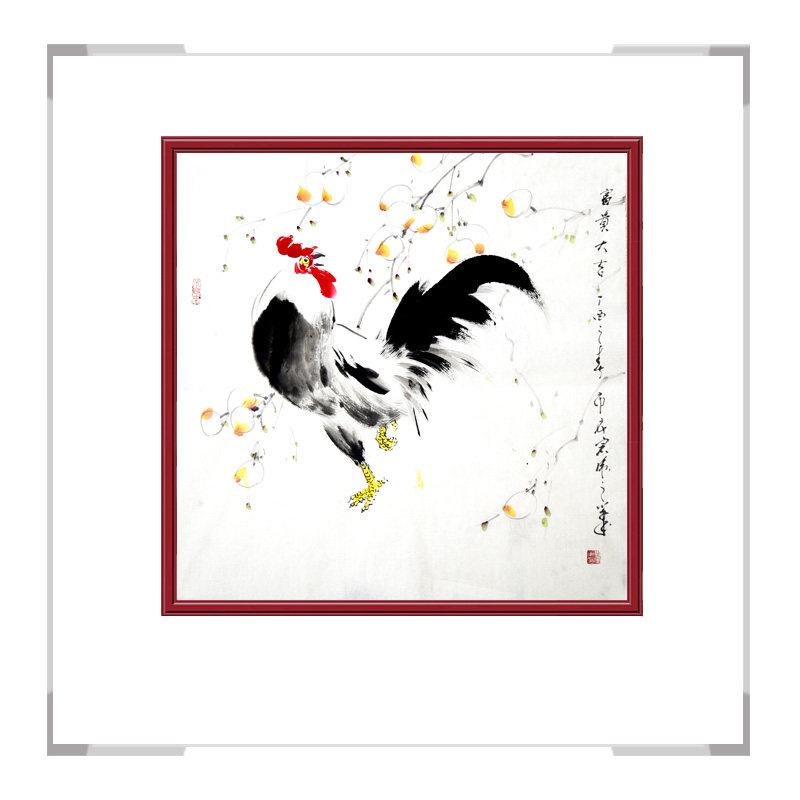 中国工笔画学会会员画家刘宗伟-花鸟画斗方作品二