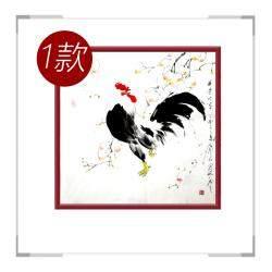 中国工笔画学会会员画家刘宗伟-花鸟画斗方作品三