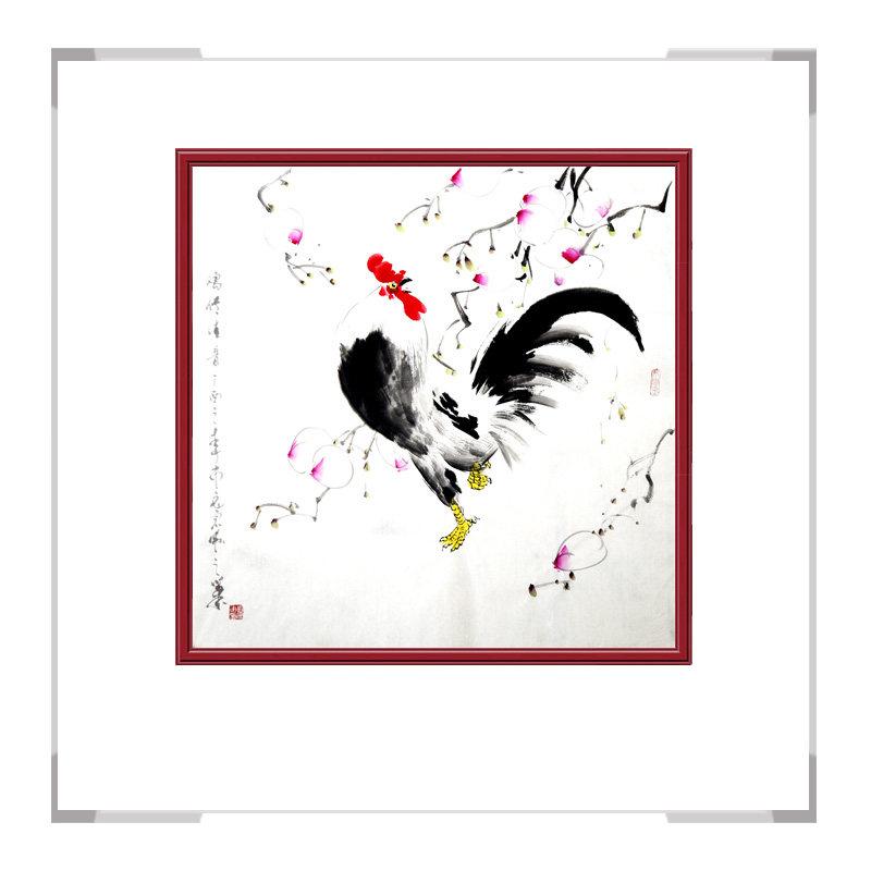 中国工笔画学会会员画家刘宗伟作品-花鸟画斗方之一