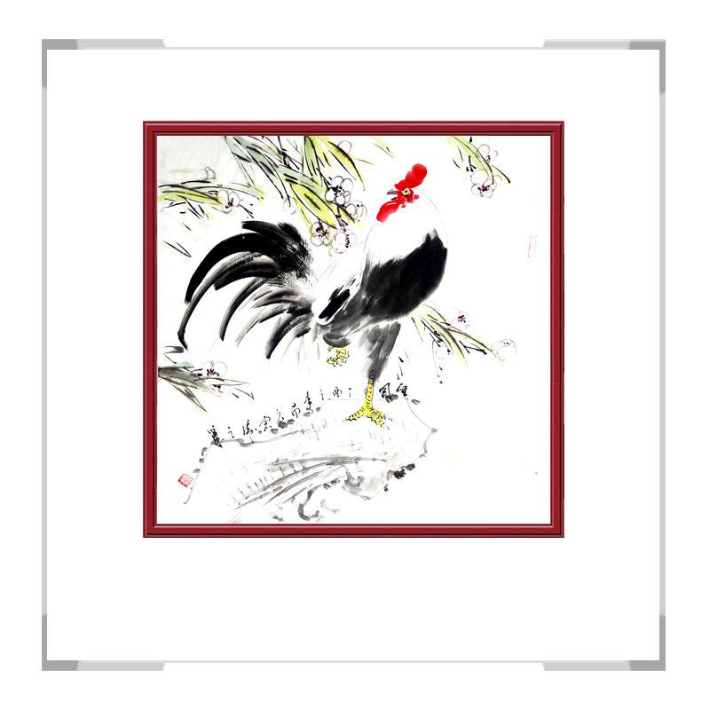 中国工笔画学会会员画家刘宗伟作品-花鸟画斗方之二
