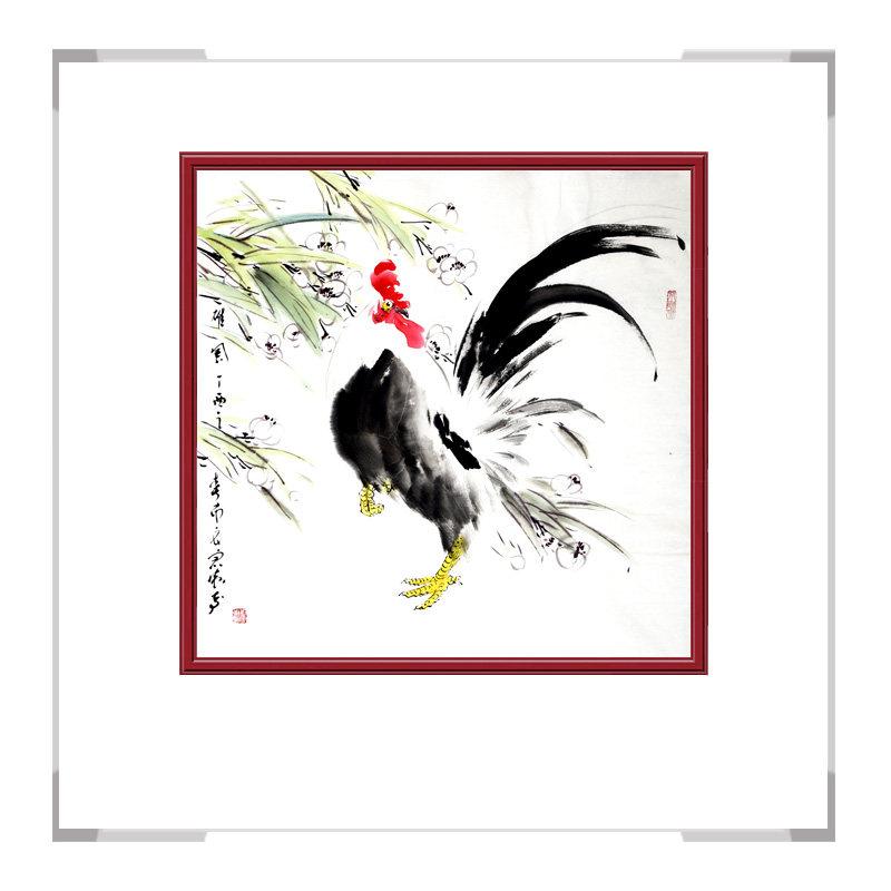 中国工笔画学会会员画家刘宗伟作品-花鸟画斗方之三