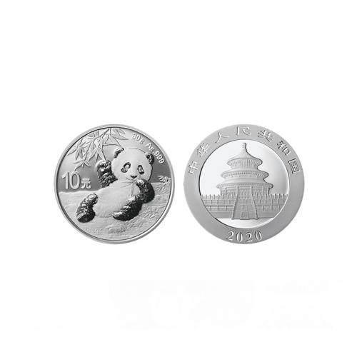 2020年熊猫银币 30克银币