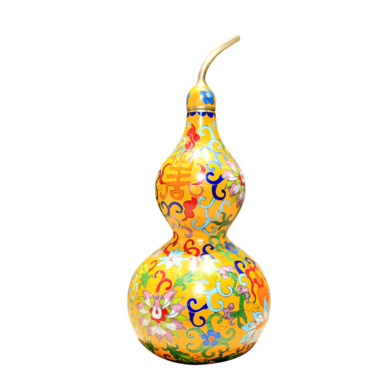《紫金宝葫芦》——掐丝珐琅葫芦瓶(大号)